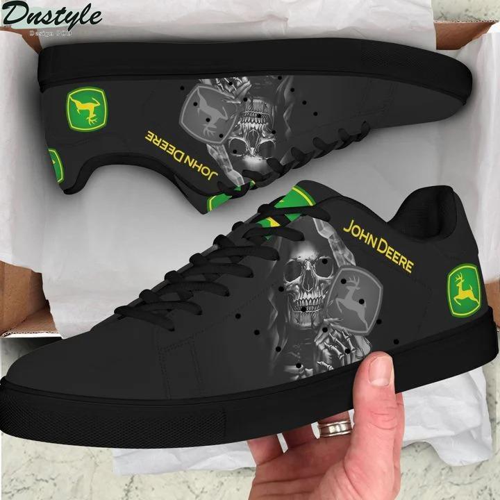 John deere skull black stan smith low top shoes