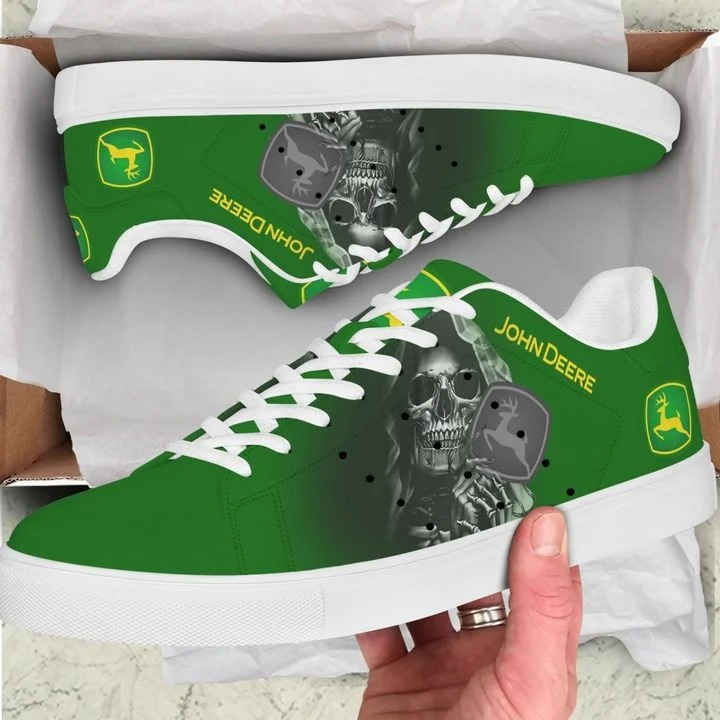 John deere skull green stan smith low top shoes 1