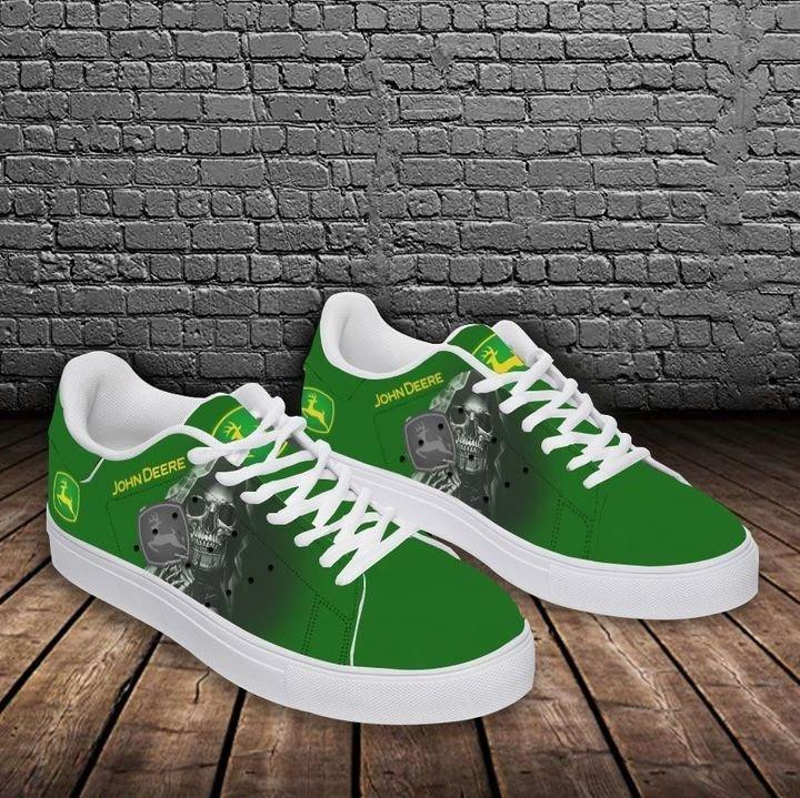John deere skull green stan smith low top shoes 2