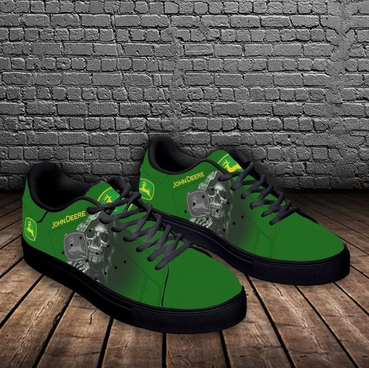 John deere skull green stan smith low top shoes 3