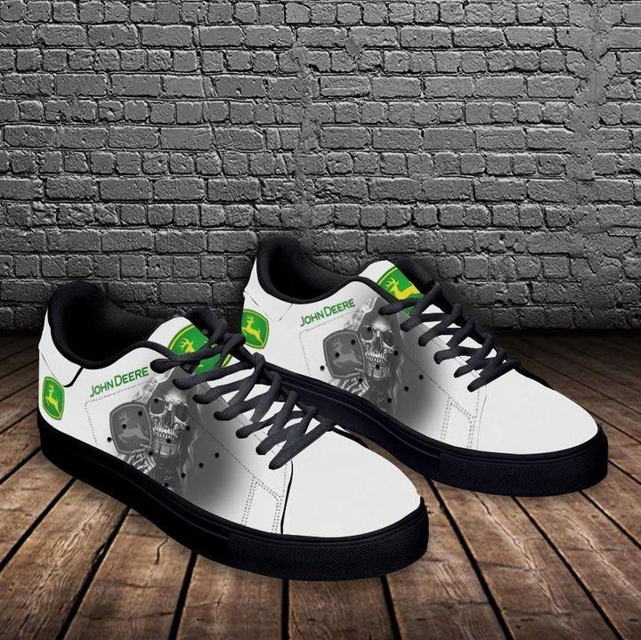 John deere skull white stan smith low top shoes 3