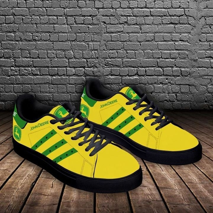 John deere yellow stan smith low top shoes 3