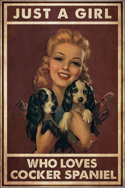 Just a girl who loves cocker spaniel poster