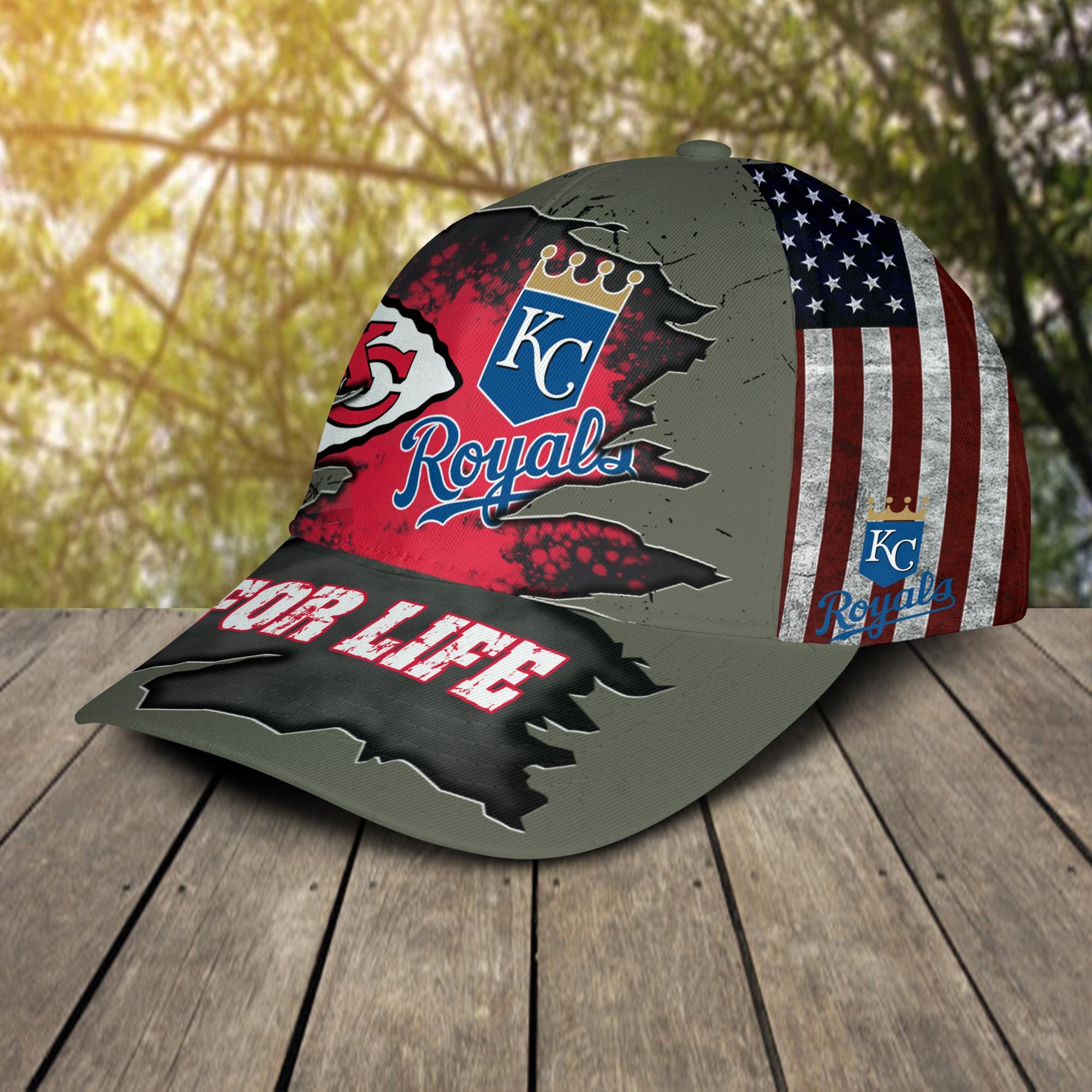 Kansas city chiefs and kansas city royals for life cap 2