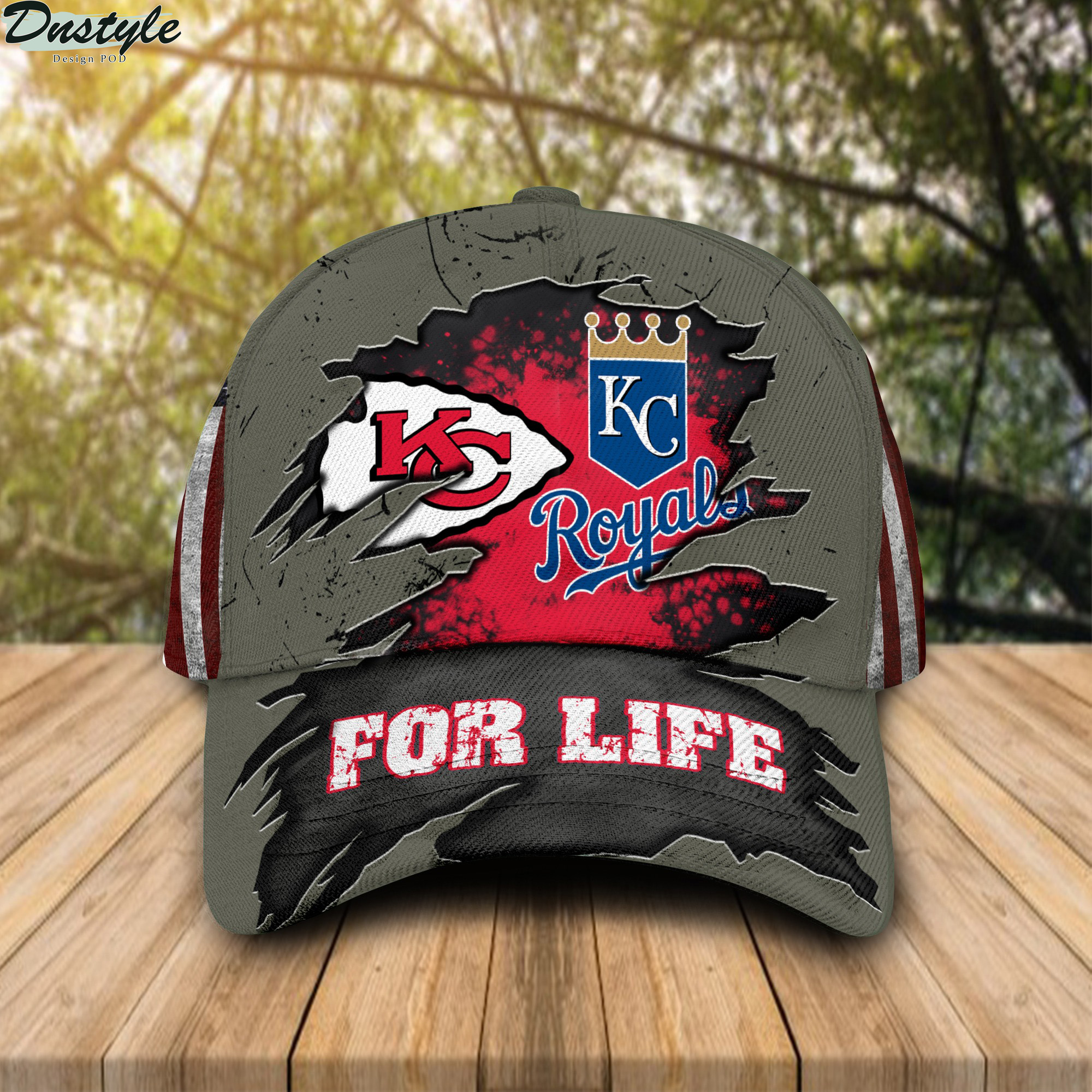 Kansas city chiefs and kansas city royals for life cap
