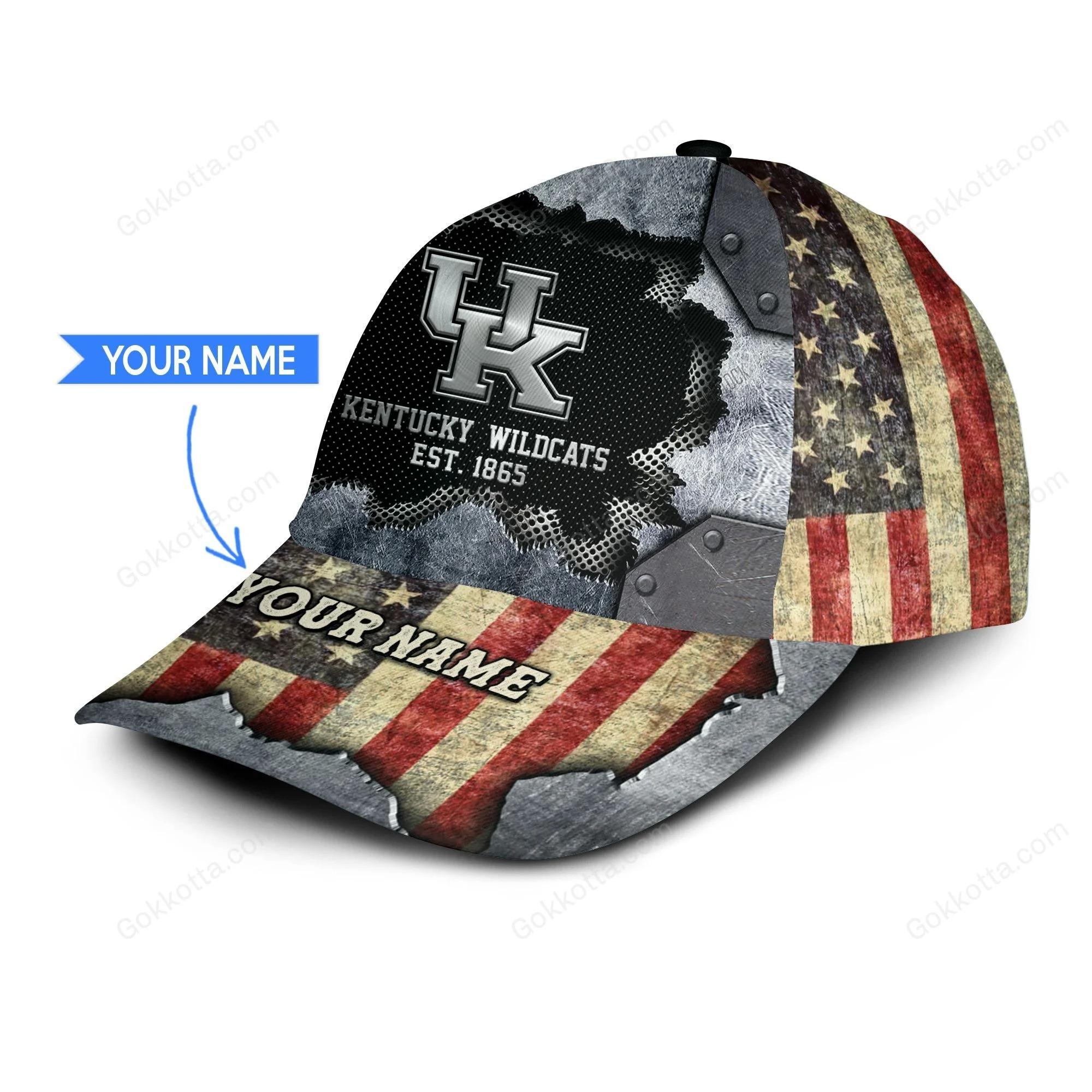 Kentucky wildcats est 1865 personalized classic cap 1
