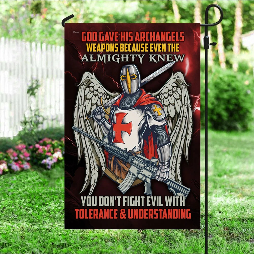 Knight Templar God Gave His Archangels Weapons Because Even The Almighty Knew Flag 1