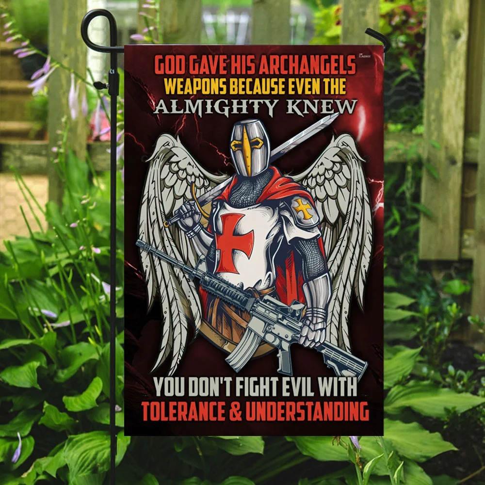 Knight Templar God Gave His Archangels Weapons Because Even The Almighty Knew Flag 2