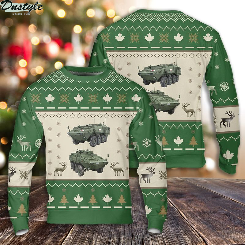 LAV 6.0 Canadian Army ugly christmas sweater