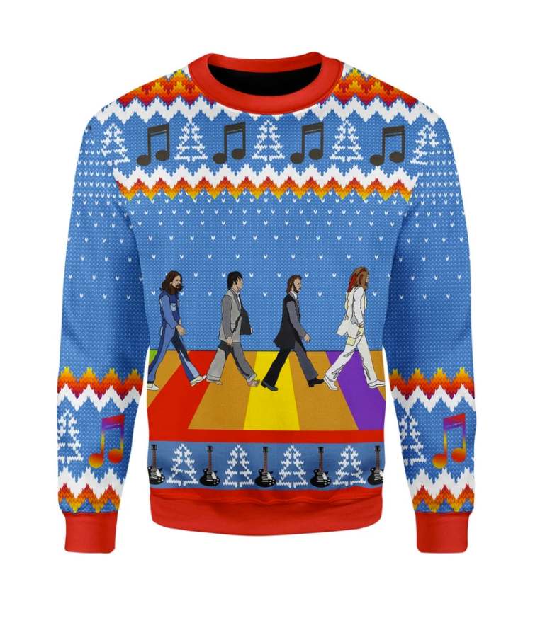 LGBT The Beatles Abbey Road ugly sweater