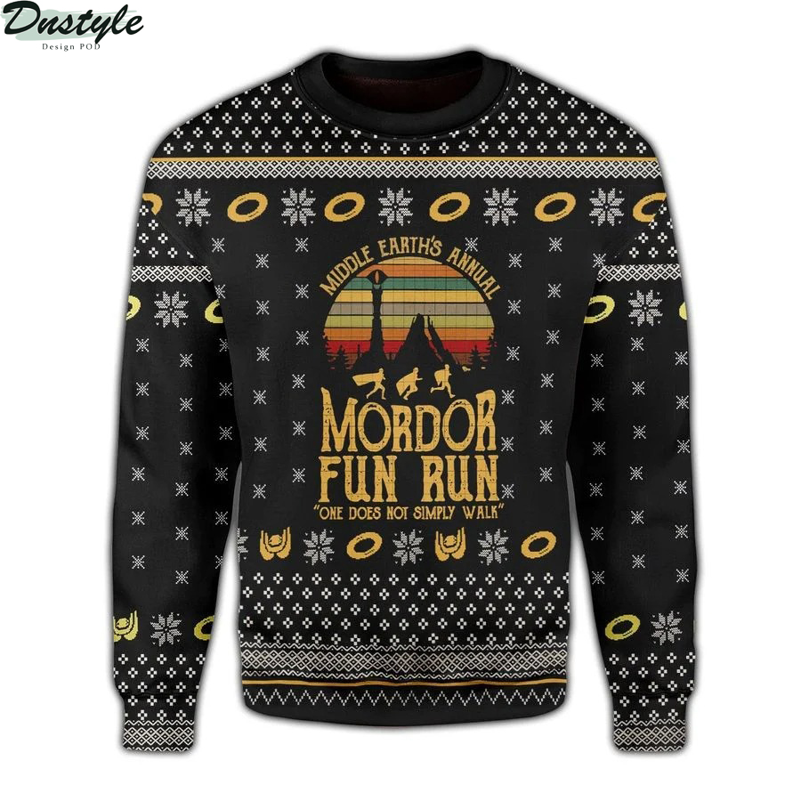 LOTR Mordor fun run midle earth's annual one does not simply walk ugly sweater