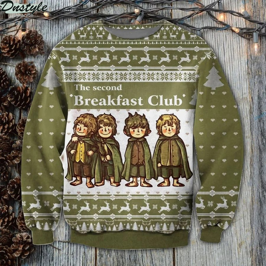 LOTR the second breakfast club ugly sweater