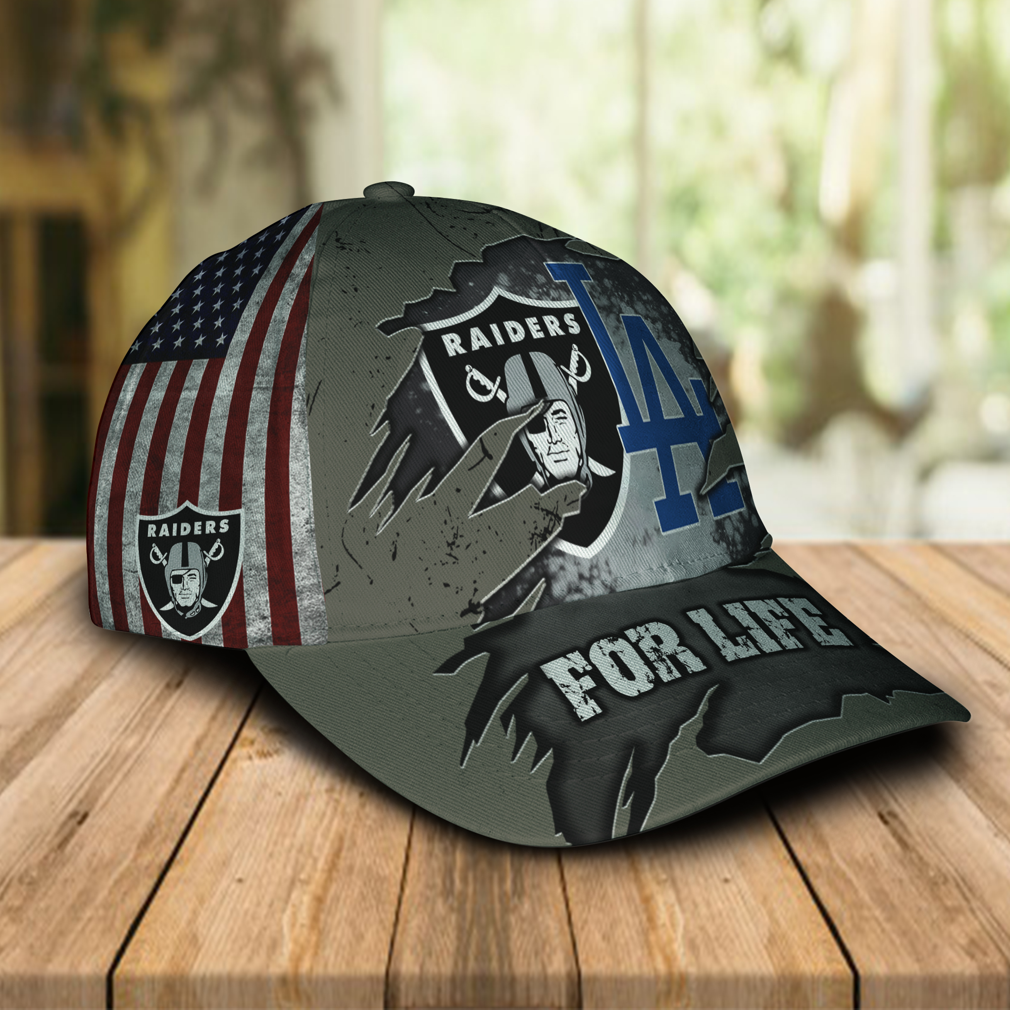 Las Vegas Raiders And Los Angeles Dodgers For Life Cap 2