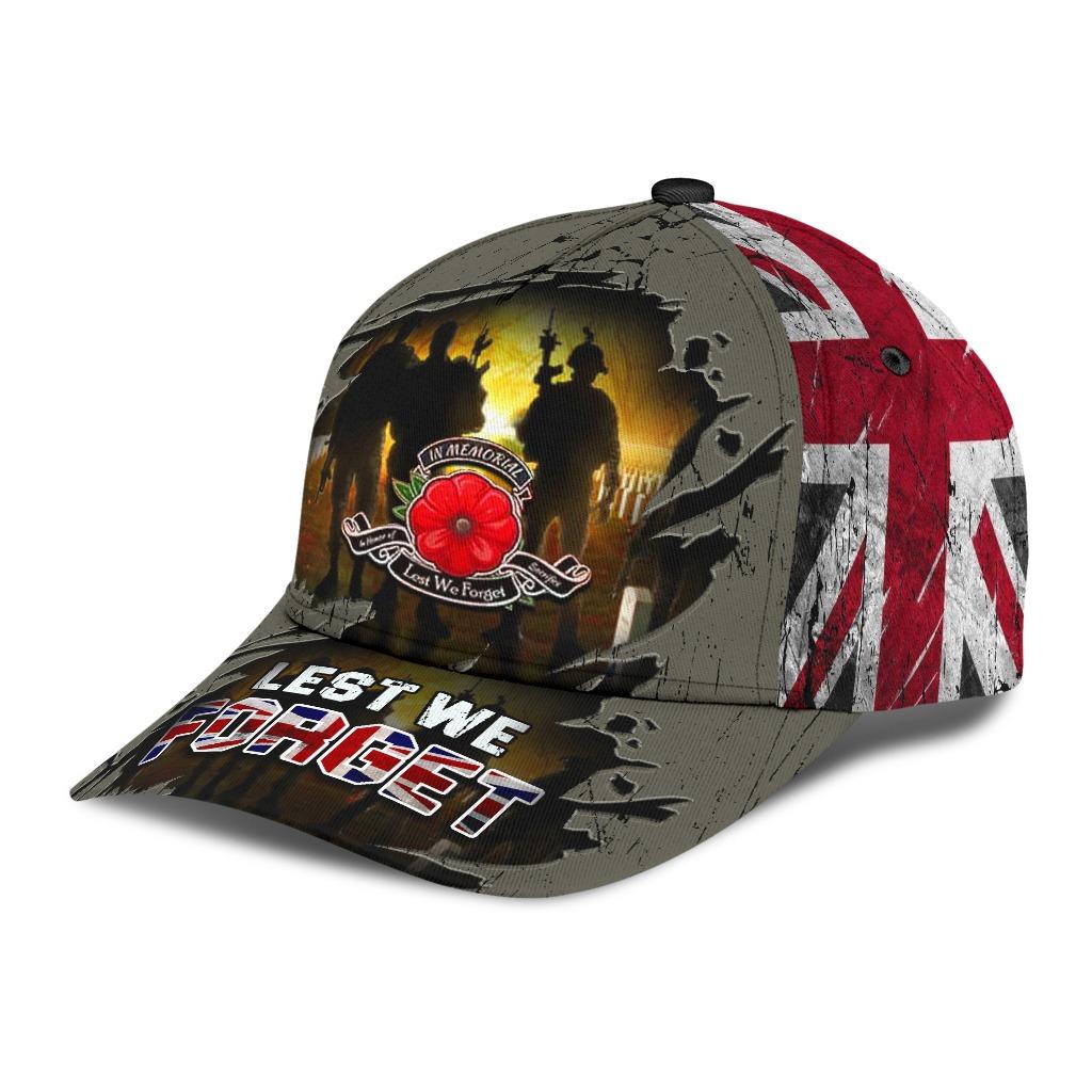 Lest We Forget Poppy Uk Flag Hat 2