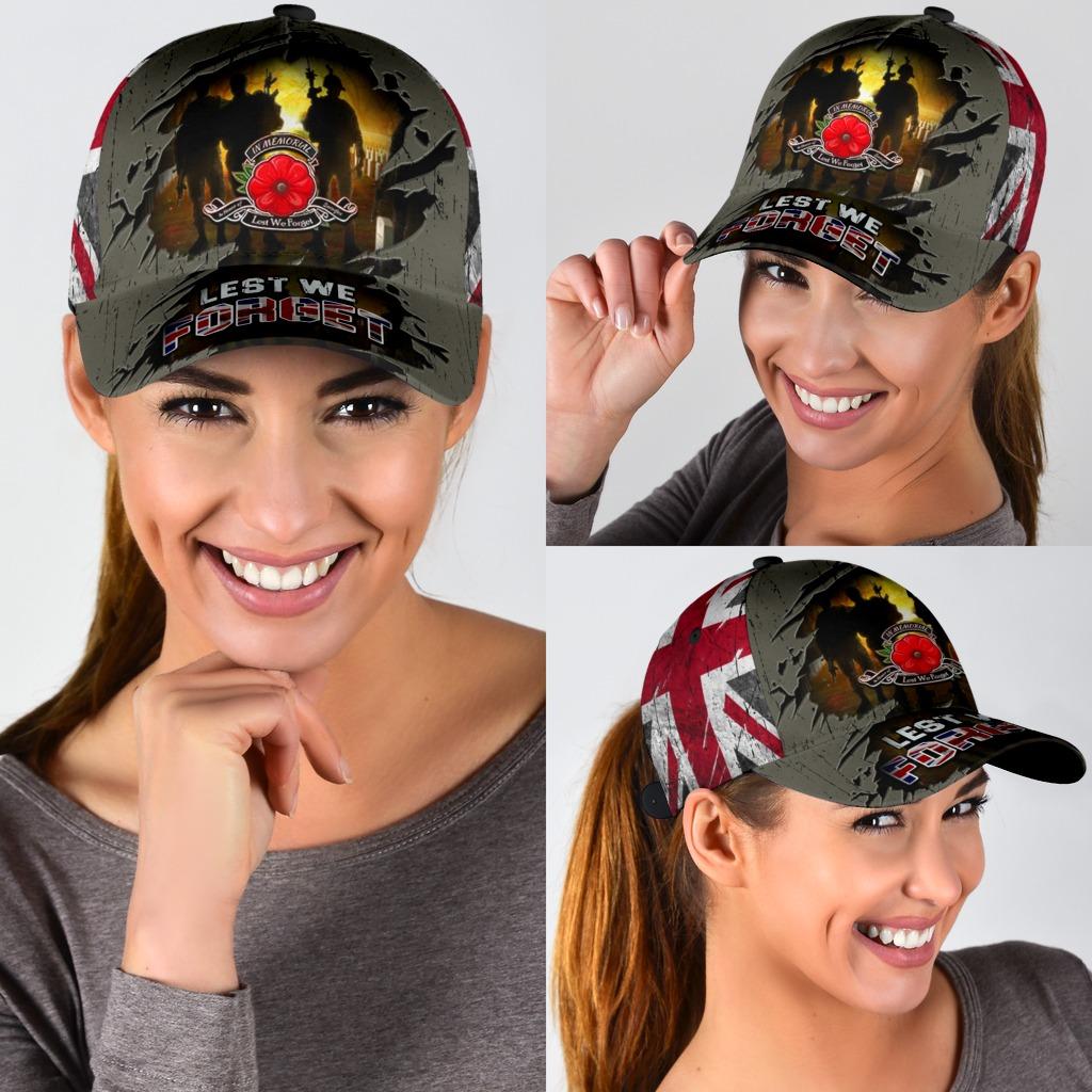 Lest We Forget Poppy Uk Flag Hat 3