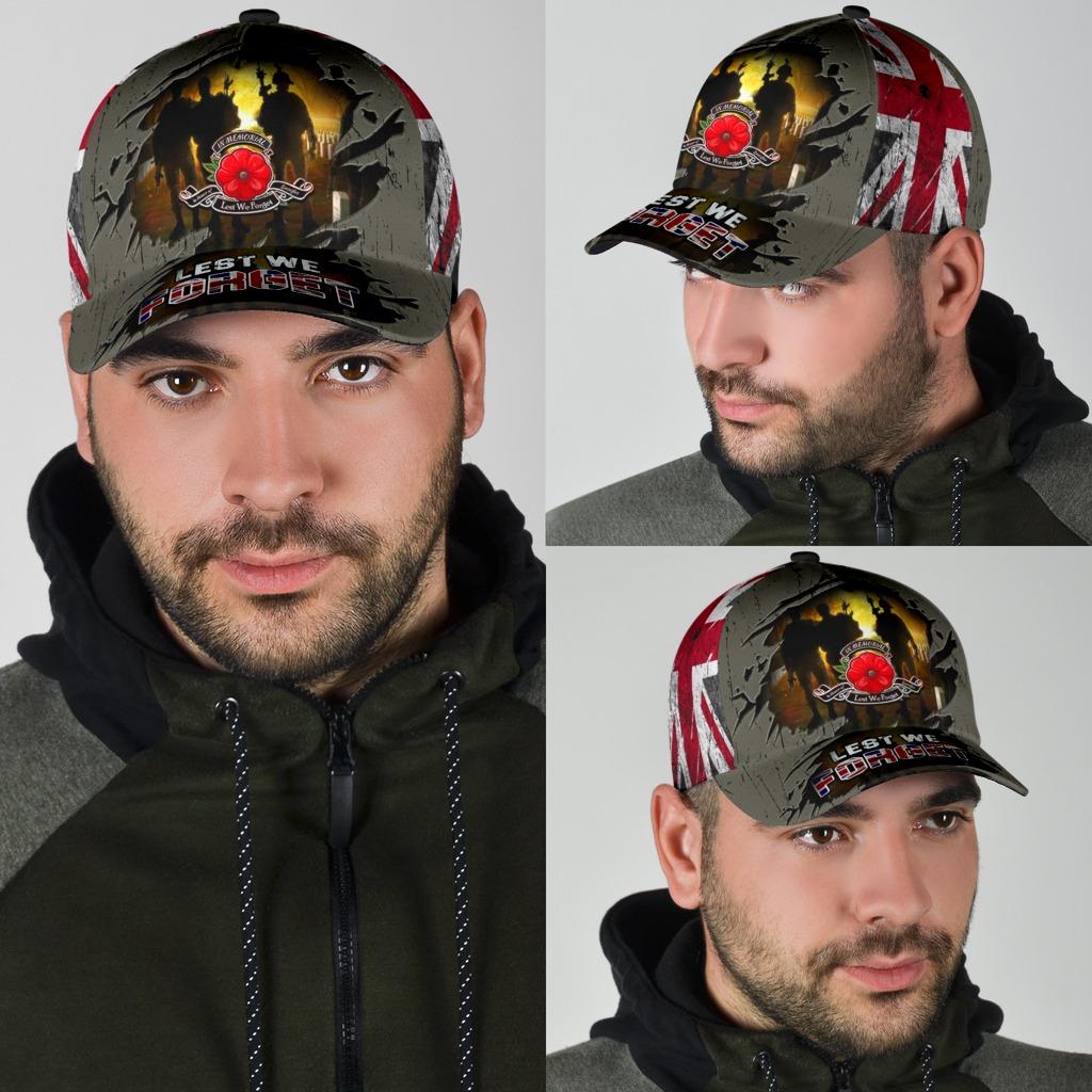 Lest We Forget Poppy Uk Flag Hat 4