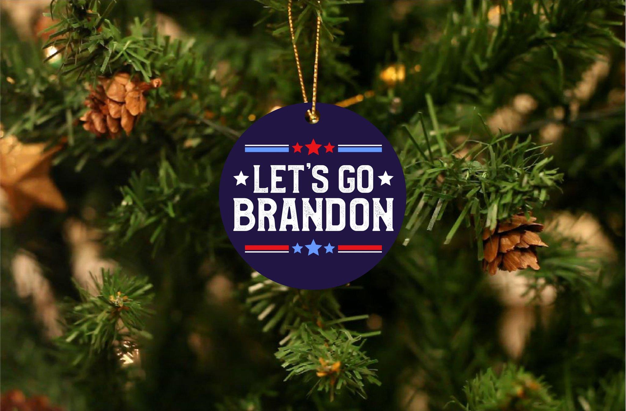 Let's Go Brandon Christmas Ornament