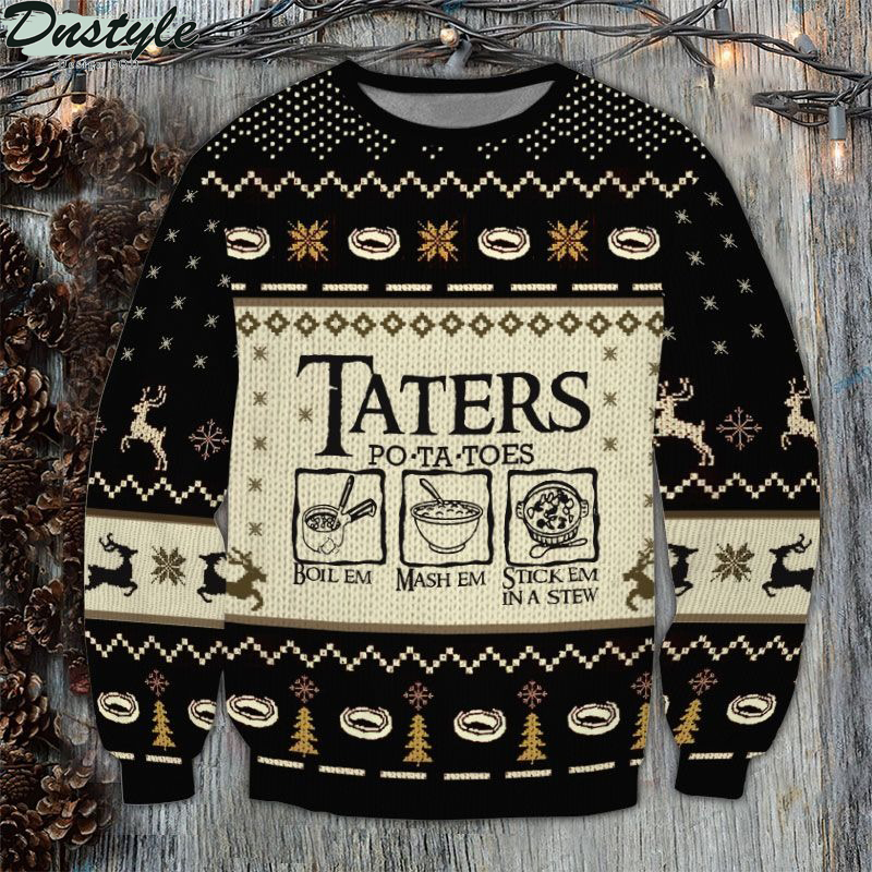Lord of the rings Taters Potatoes 3D Printed Ugly Sweater