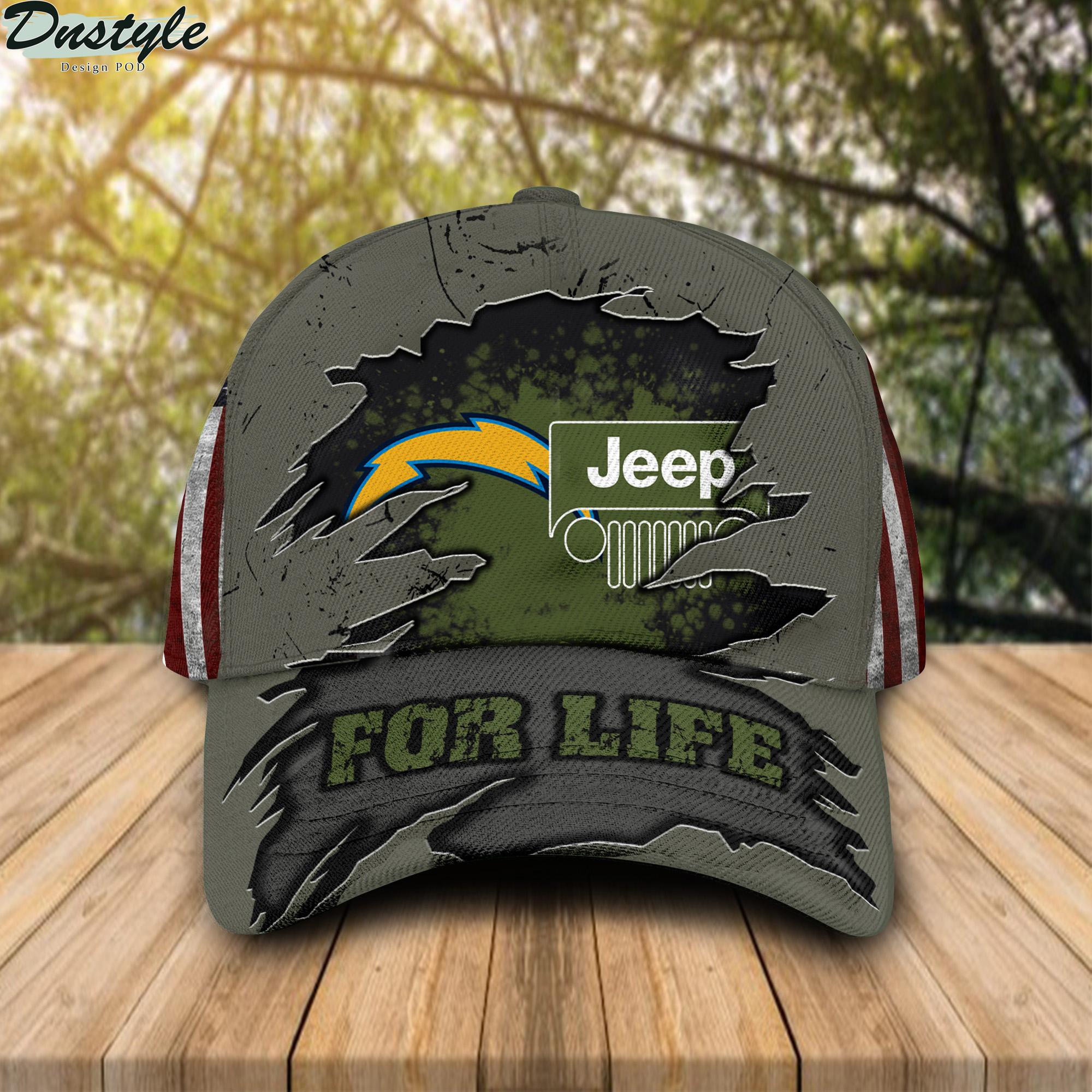 Los Angeles Chargers Jeep For Life Cap