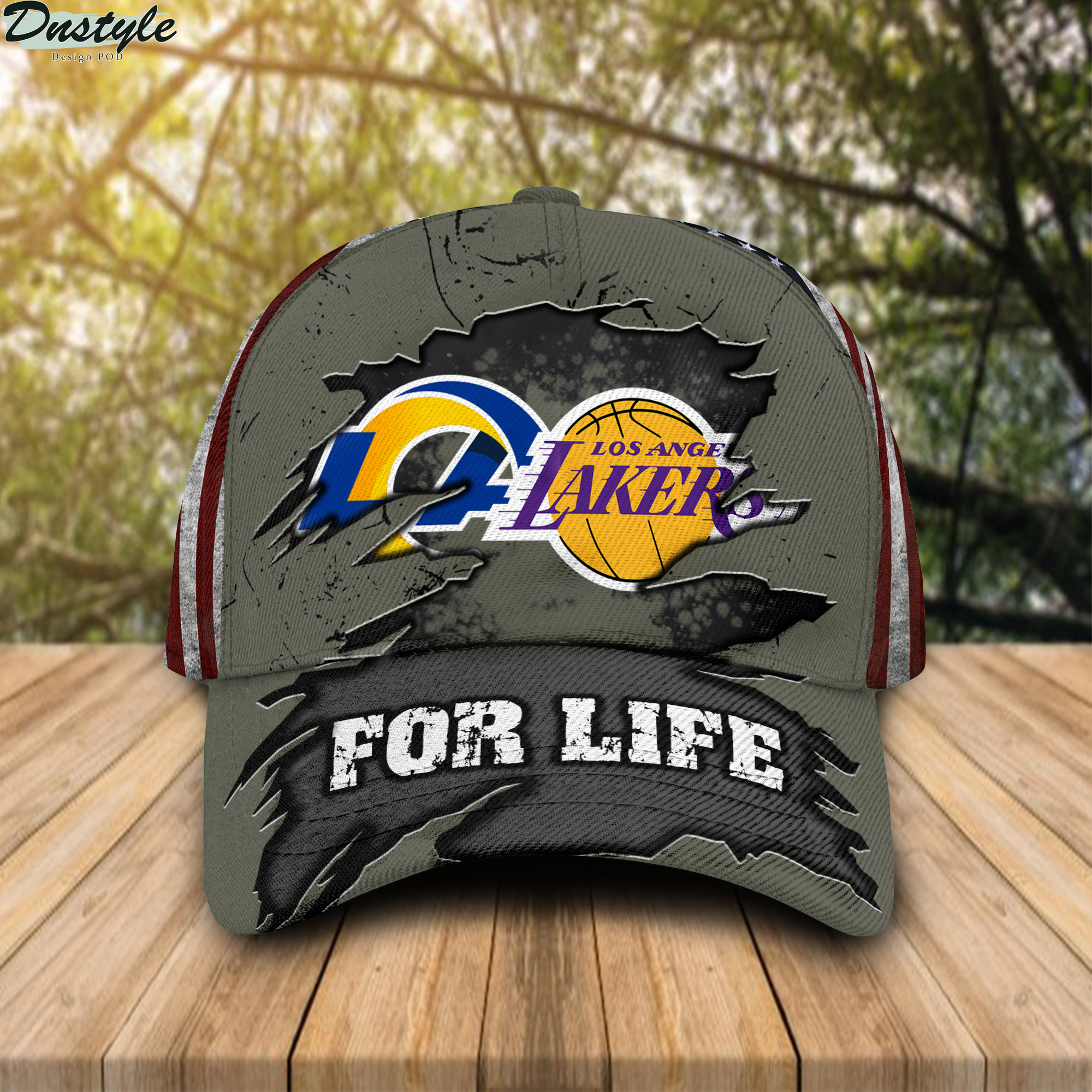 Los Angeles Lakers Los Angeles Rams For Life Cap