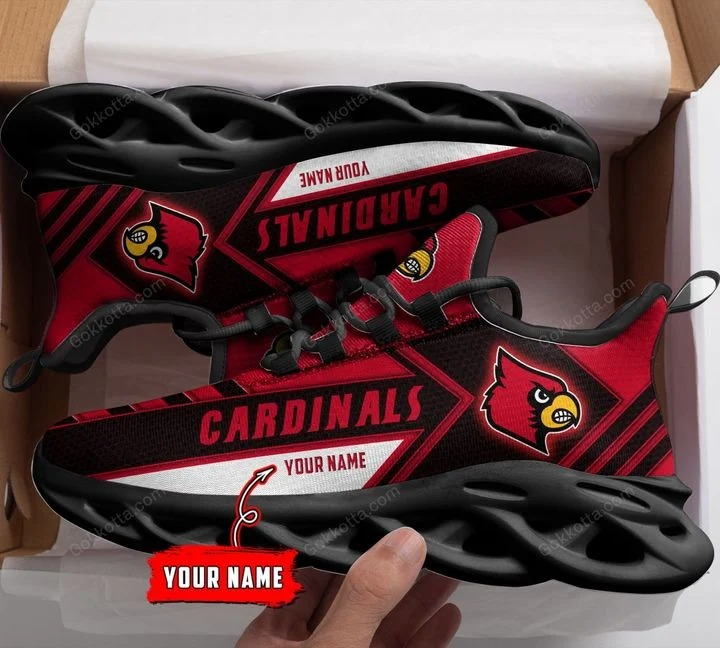 Louisville cardinals NCAA personalized max soul shoes 1