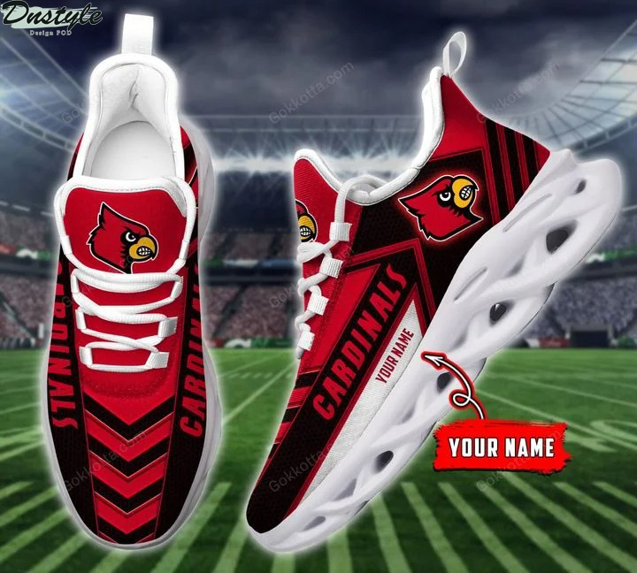 Louisville cardinals NCAA personalized max soul shoes