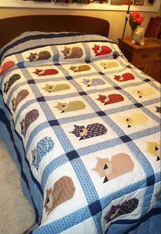 Love cats quilt