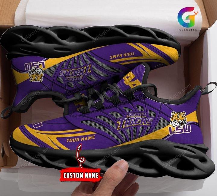 Lsu tigeLsu tigers NCAA personalized max soul shoes 1rs NCAA personalized max soul shoes 1