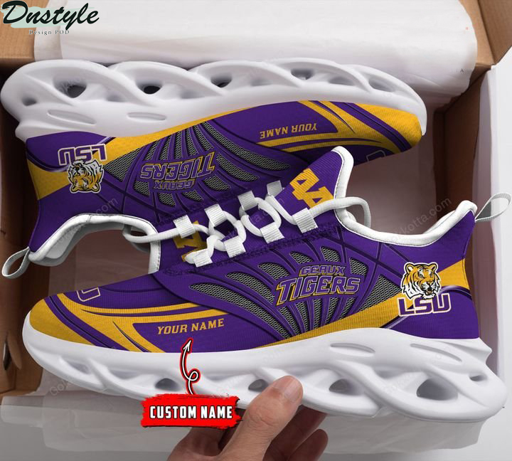 Lsu tigers NCAA personalized max soul shoes