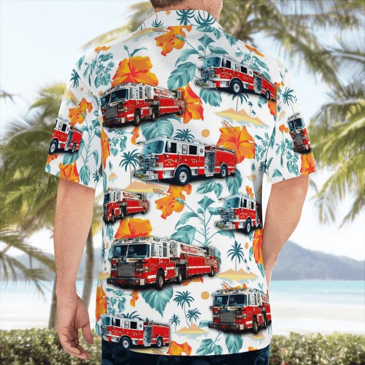 Maryland Hollywood Volunteer Fire Department Hawaiian Shirt 2
