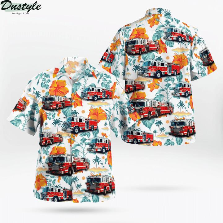 Maryland Hollywood Volunteer Fire Department Hawaiian Shirt