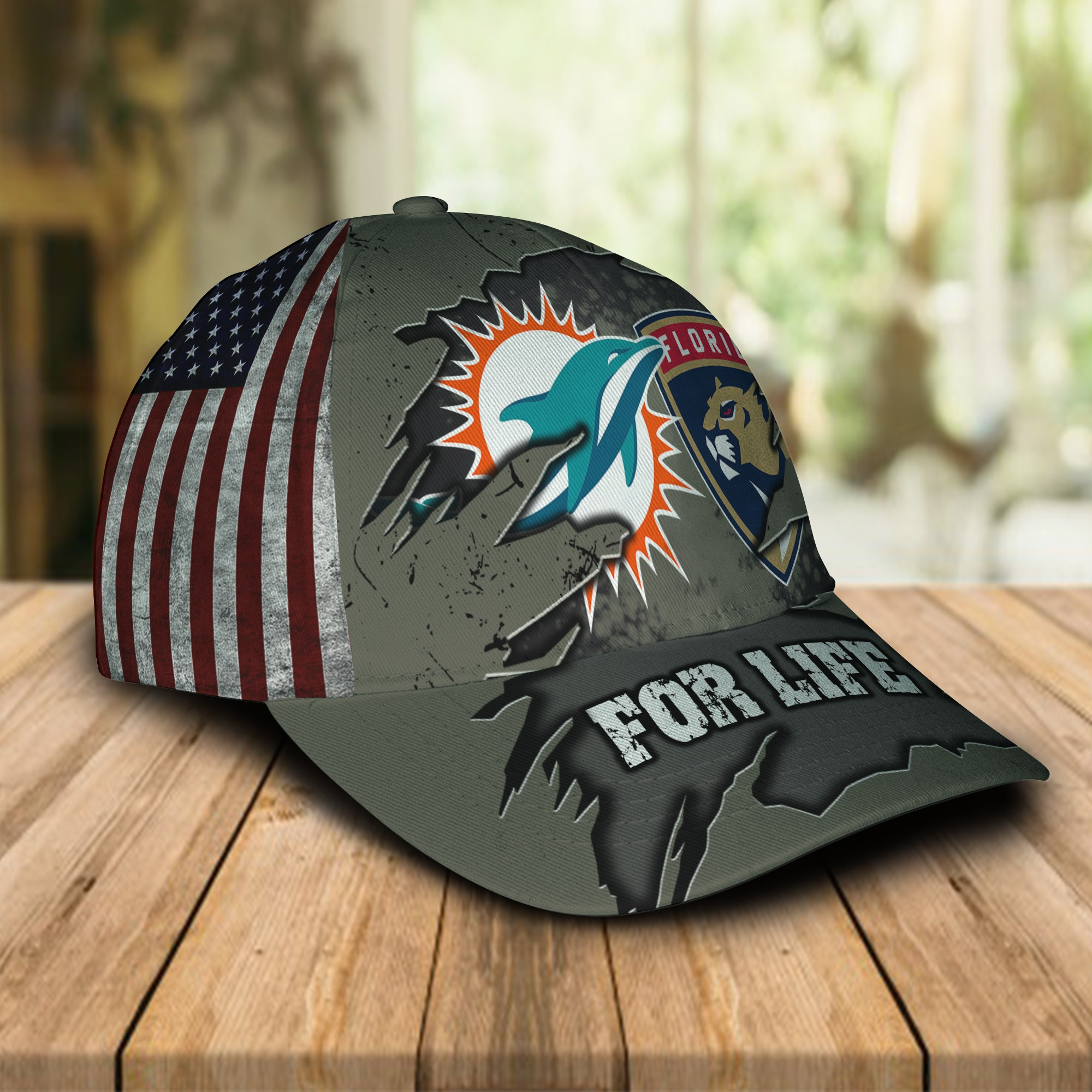 Miami Dolphins Florida Panthers For Life Cap 1