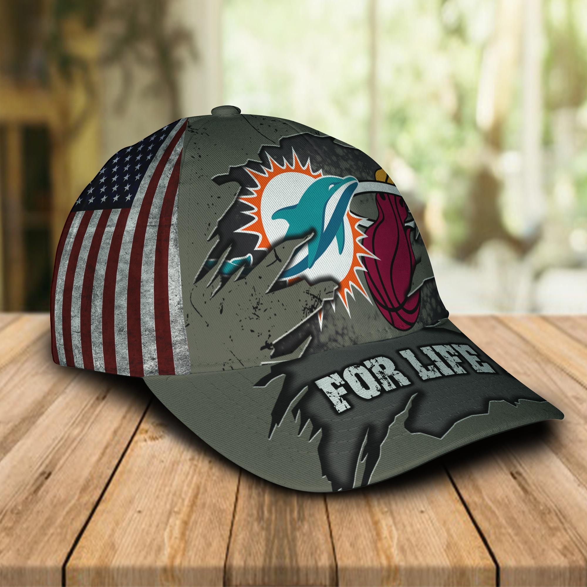 Miami Dolphins Miami Heat For Life Cap 1