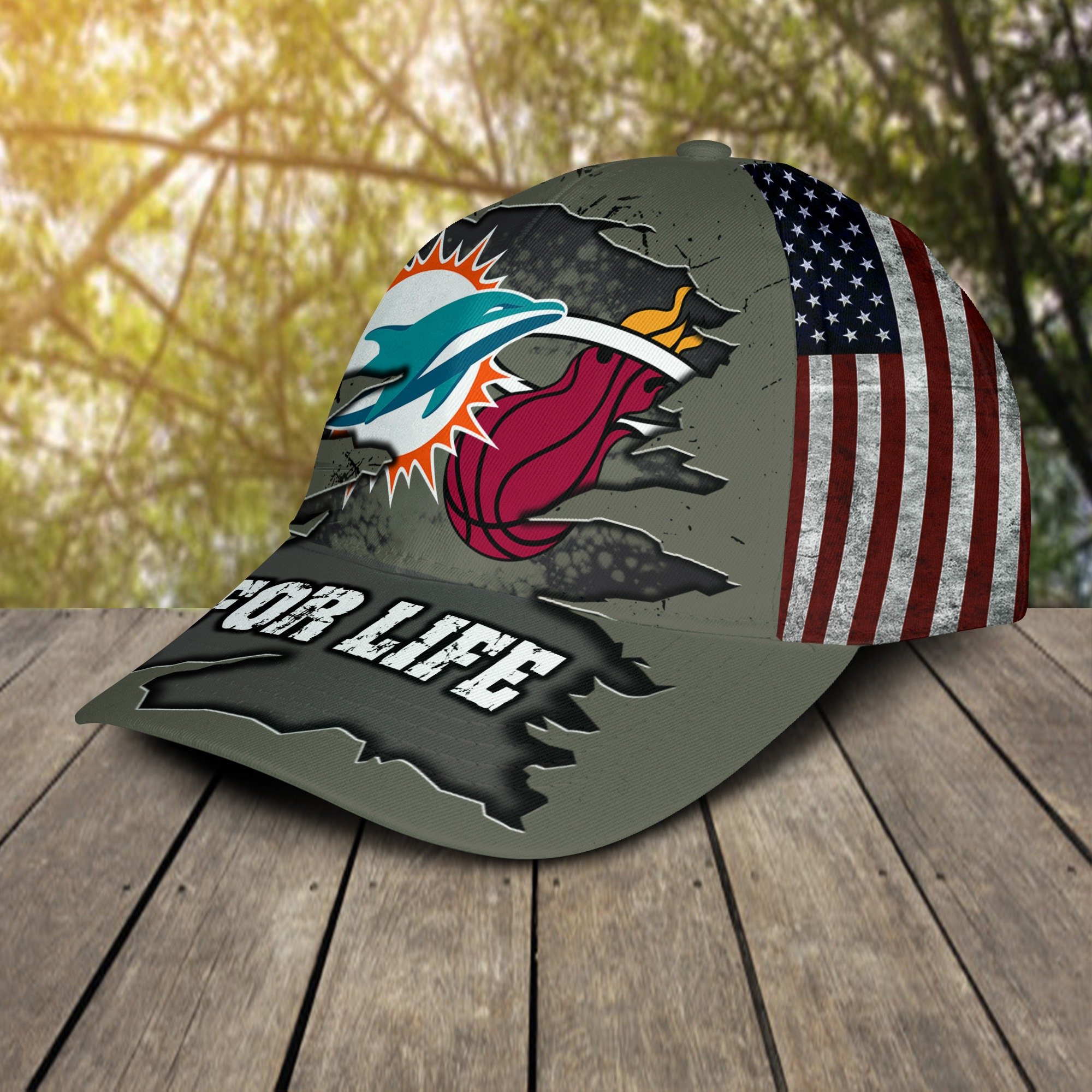 Miami Dolphins Miami Heat For Life Cap 2
