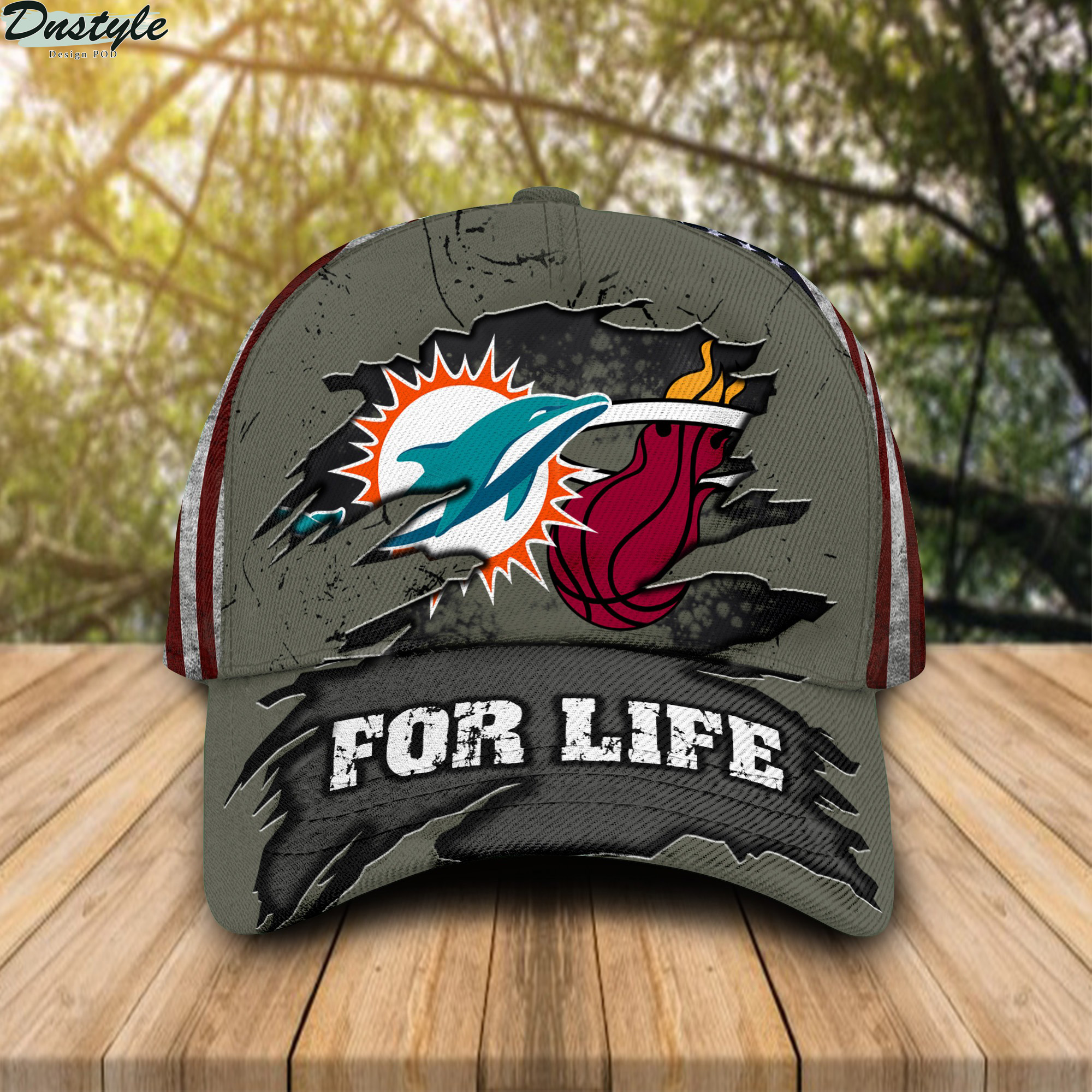 Miami Dolphins Miami Heat For Life Cap