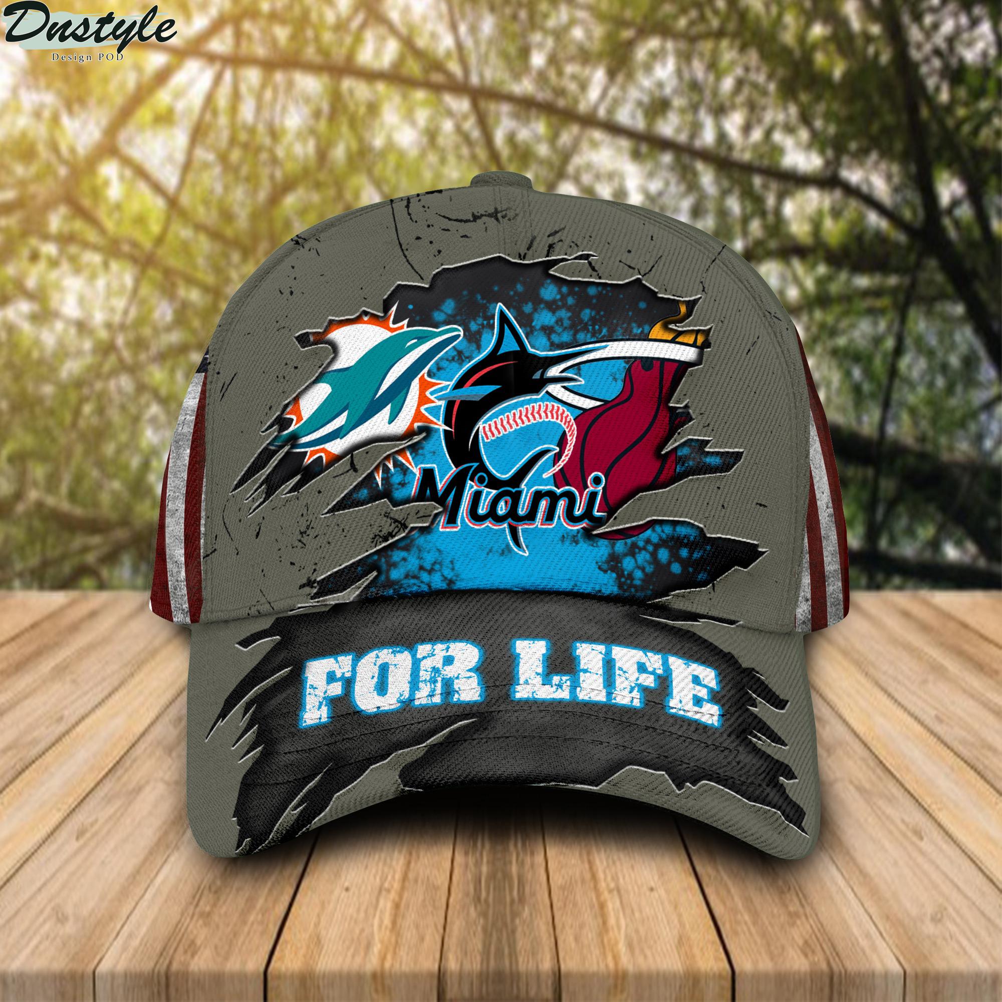 Miami Dolphins Miami Marlins Miami Heat For Life Cap