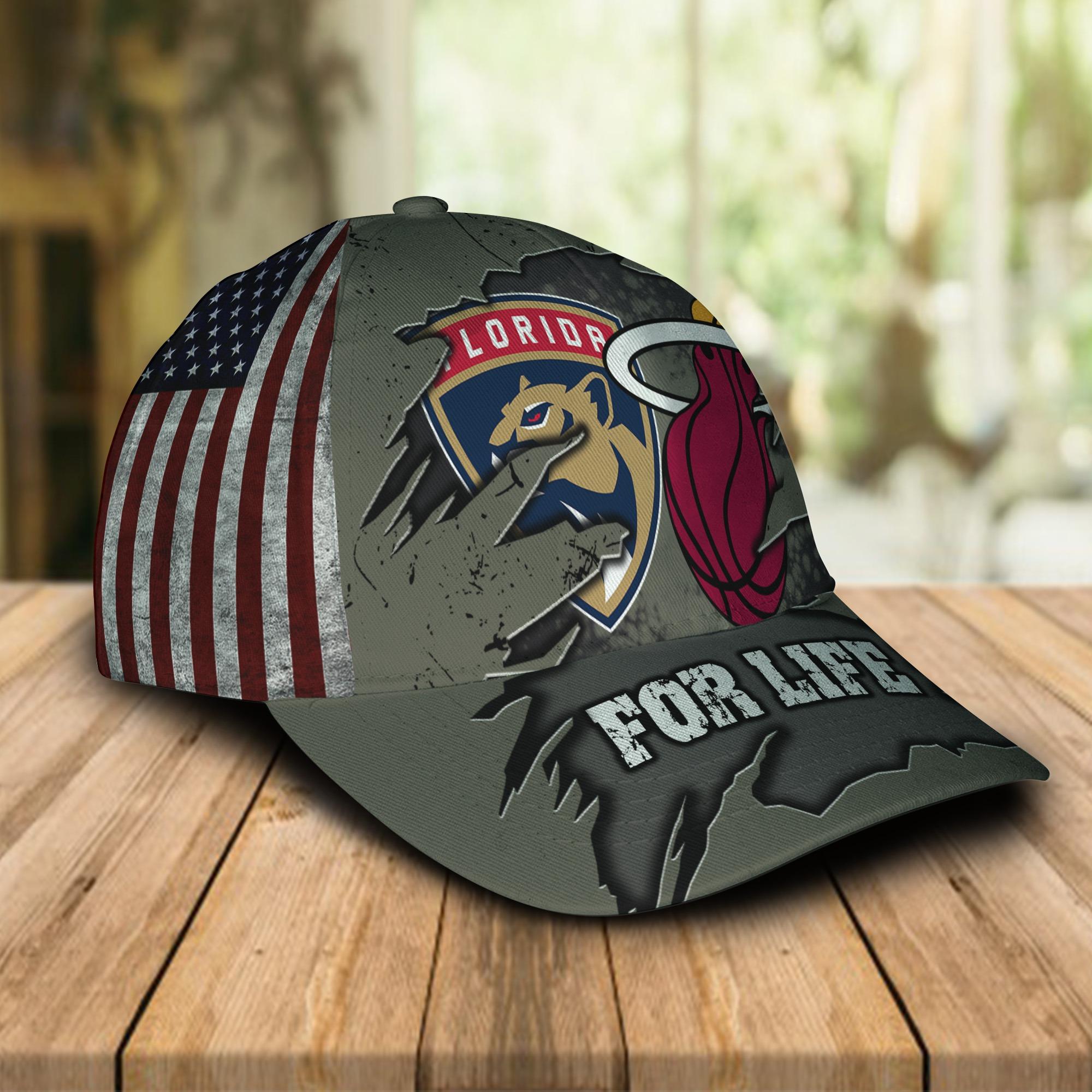 Miami Heat Florida Panthers For Life Cap 1