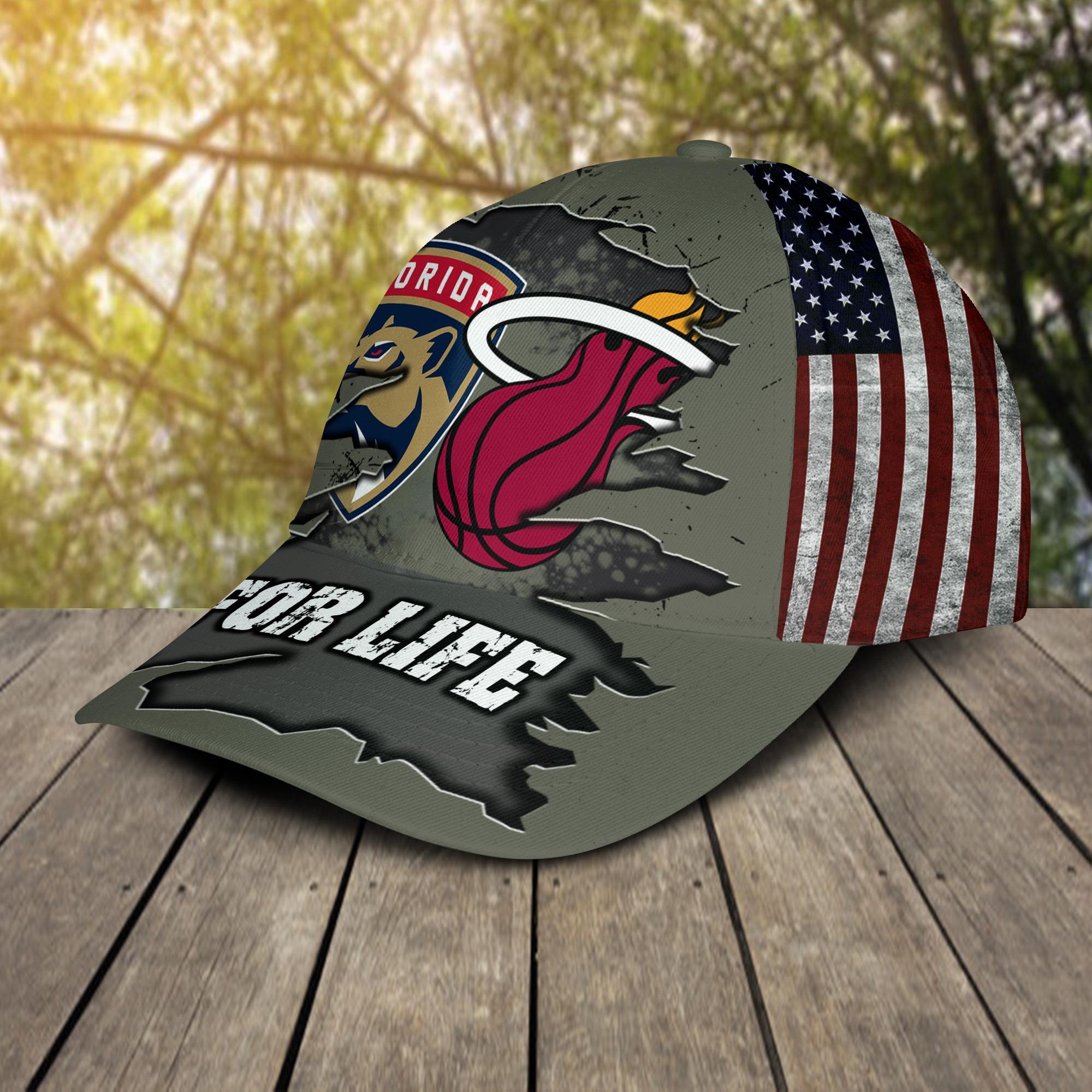 Miami Heat Florida Panthers For Life Cap 2