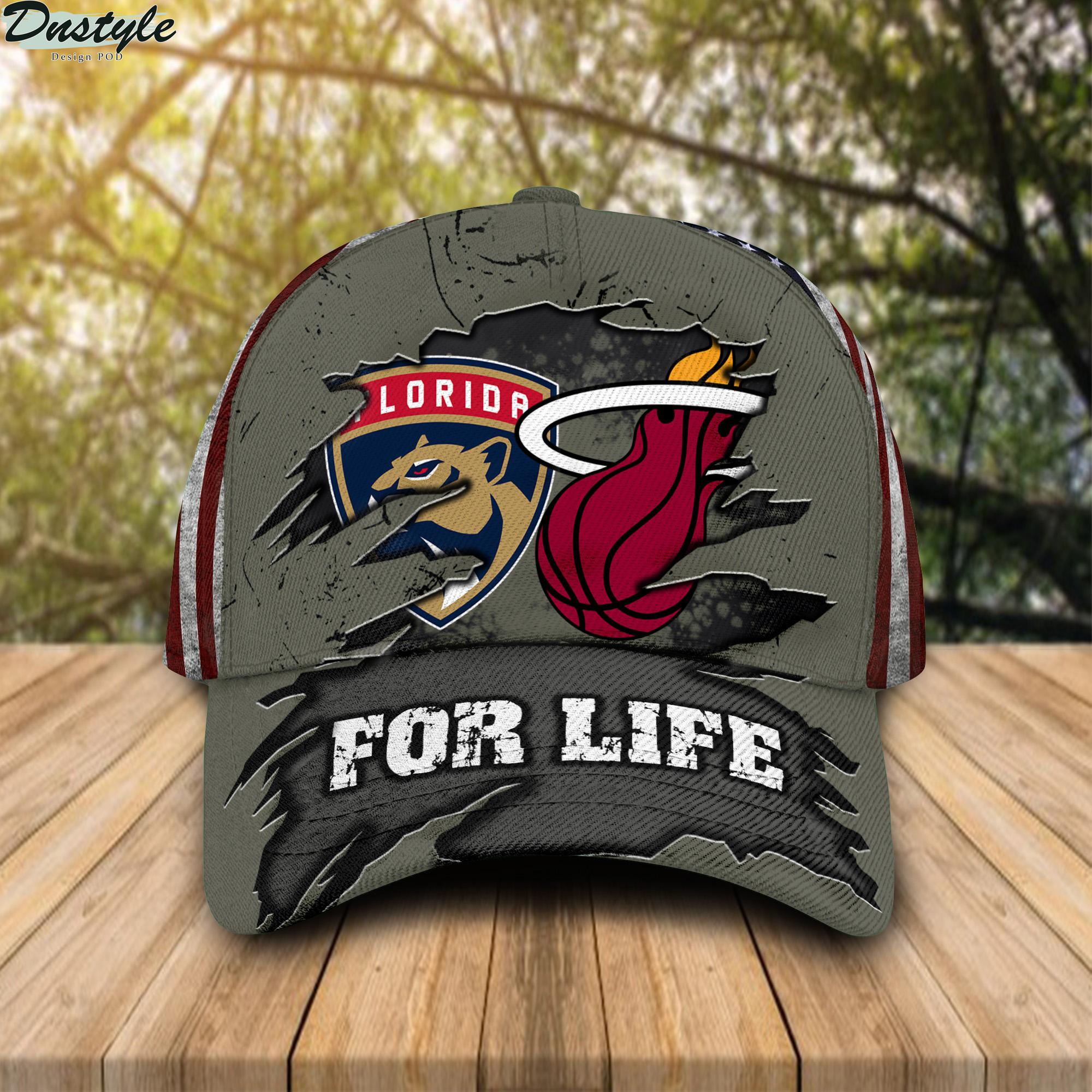 Miami Heat Florida Panthers For Life Cap