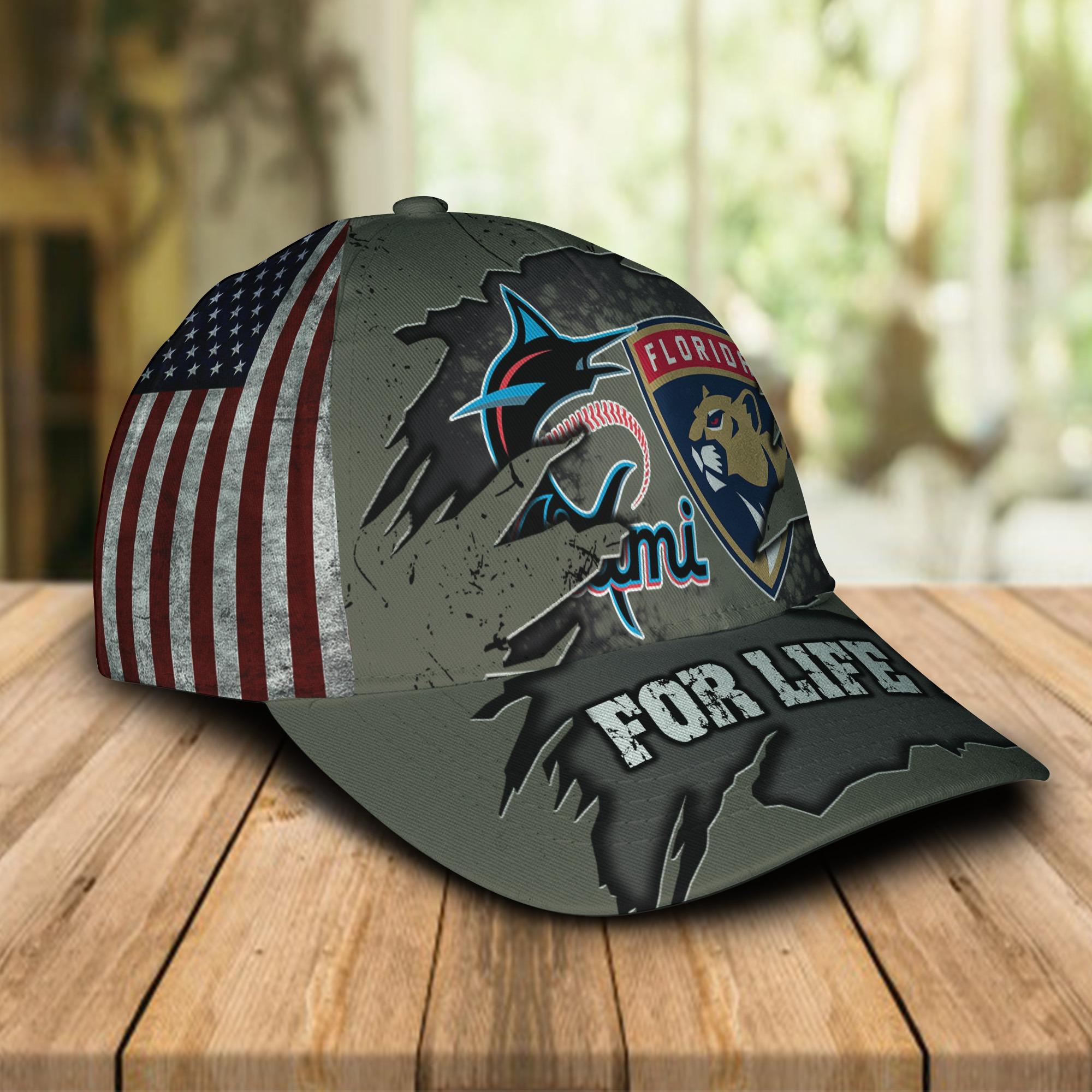 Miami Marlins Florida Panthers For Life Cap 1