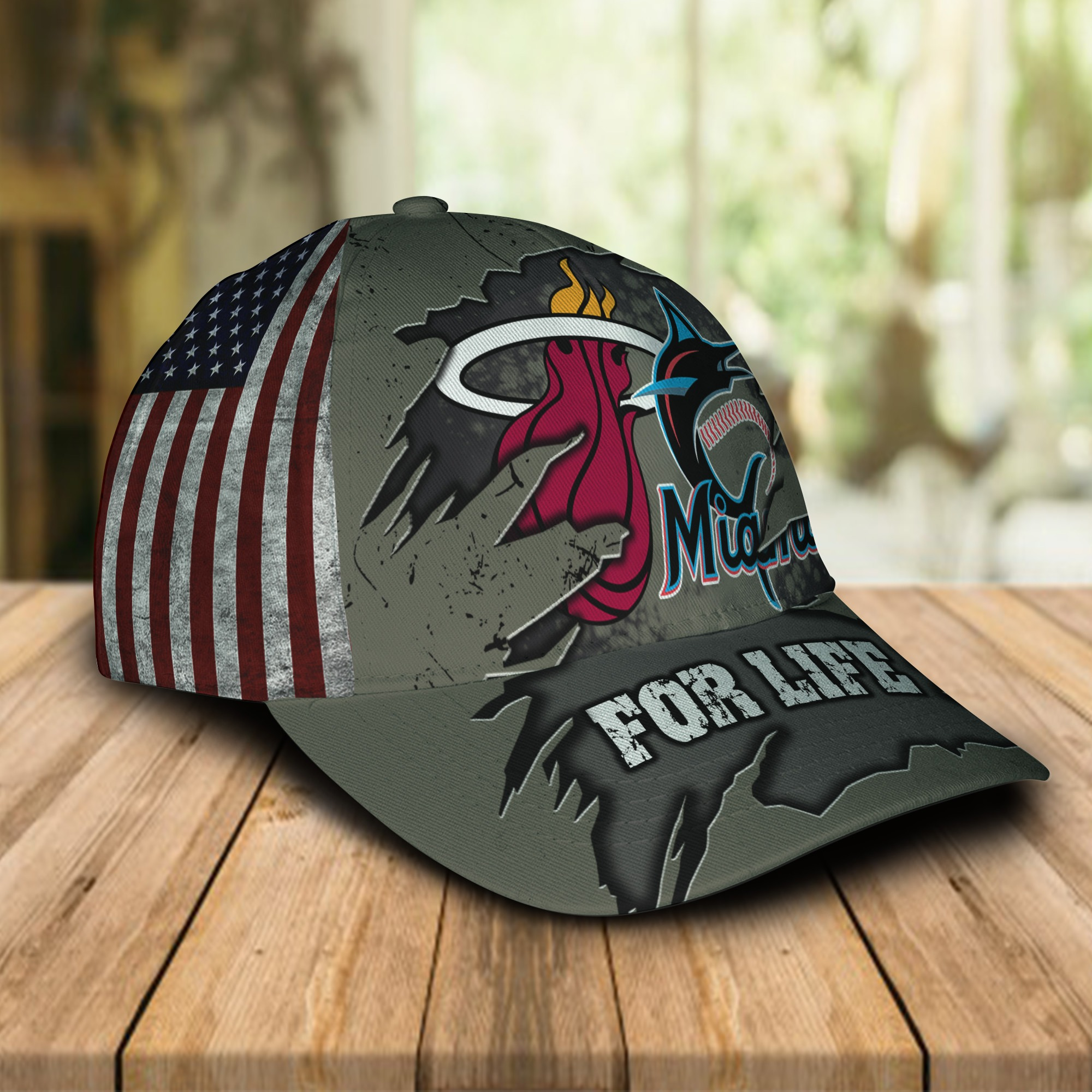 Miami Marlins Miami Heat For Life Cap 1