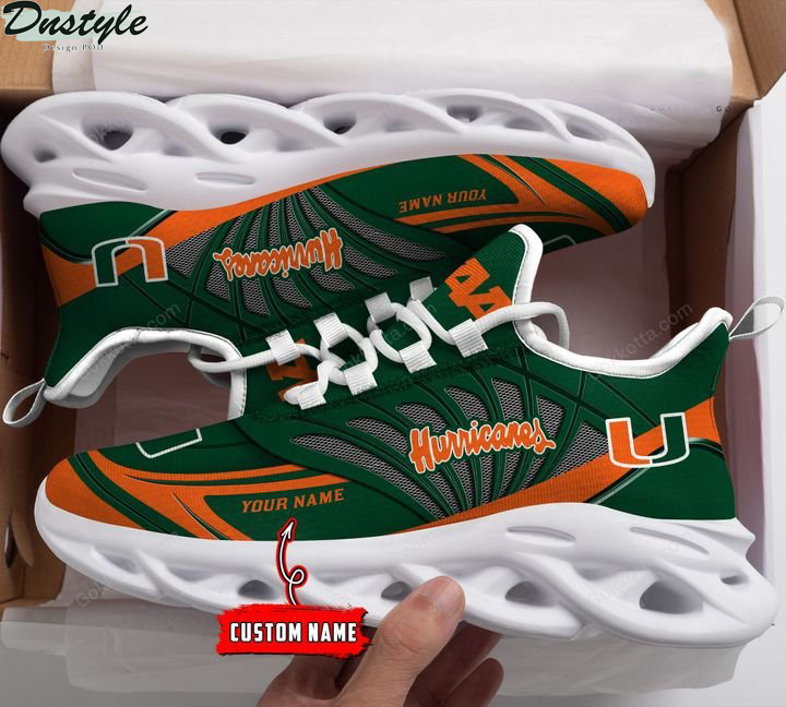 Miami hurricanes NCAA personalized max soul shoes