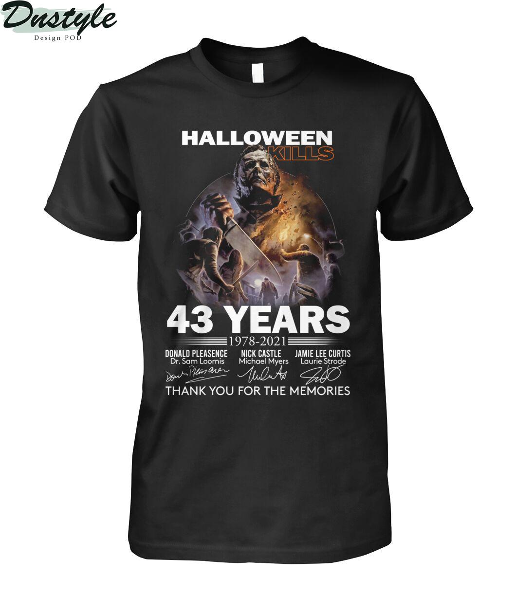 Michael myers halloween kills 43 years thank you for the memories shirt