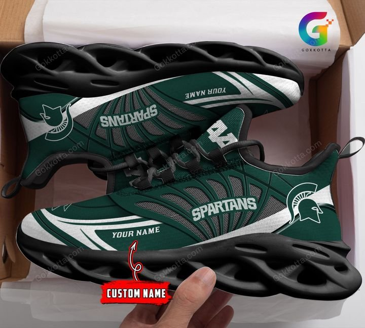 Michigan state spartans NCAA personalized max soul shoes 1