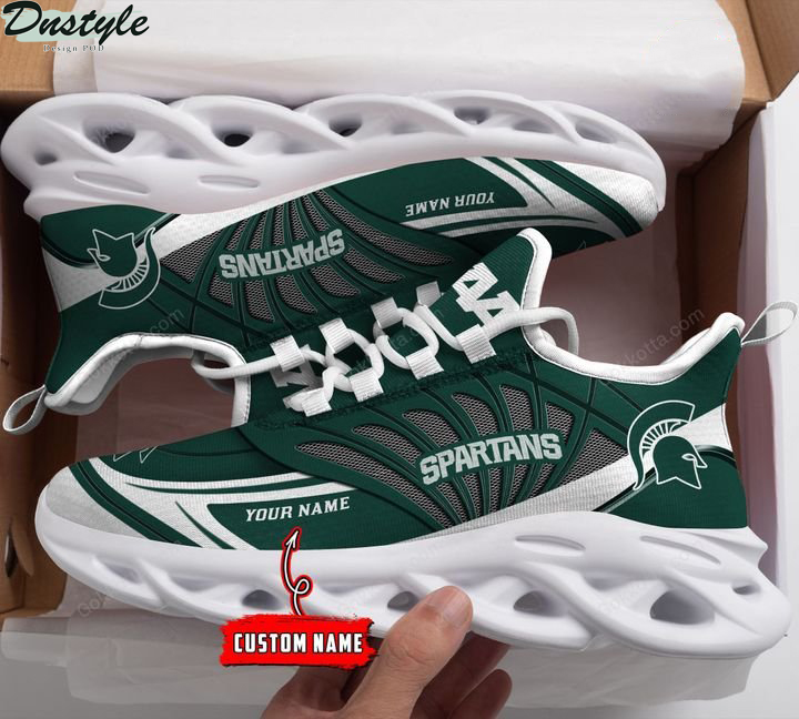 Michigan state spartans NCAA personalized max soul shoes