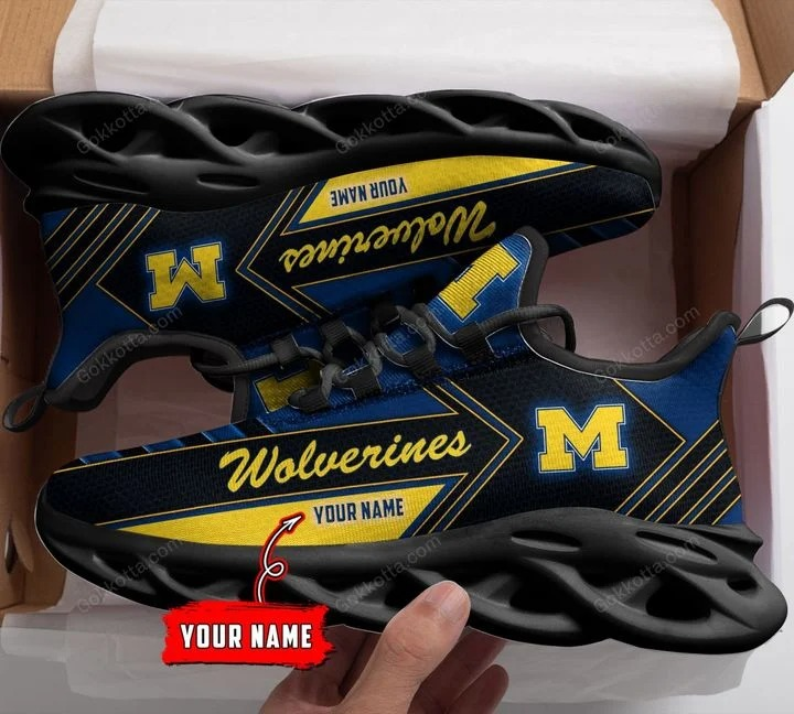 MiMichigan wolverines NCAA personalized max soul shoes 1chigan wolverines NCAA personalized max soul shoes 1