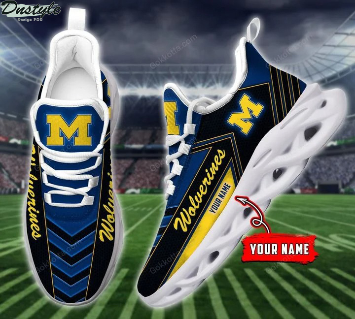Michigan wolverines NCAA personalized max soul shoes