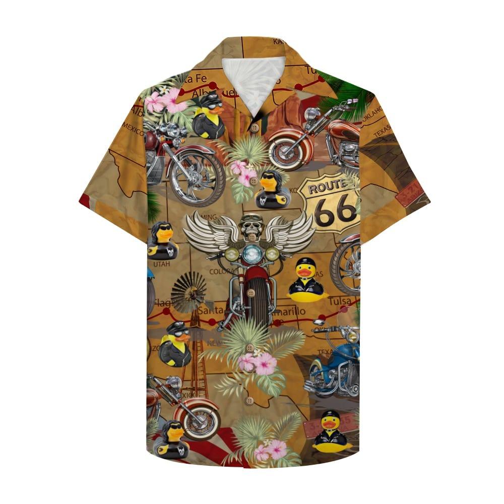 Motorcycle Rubber Duckie Hawaiian Shirt 3