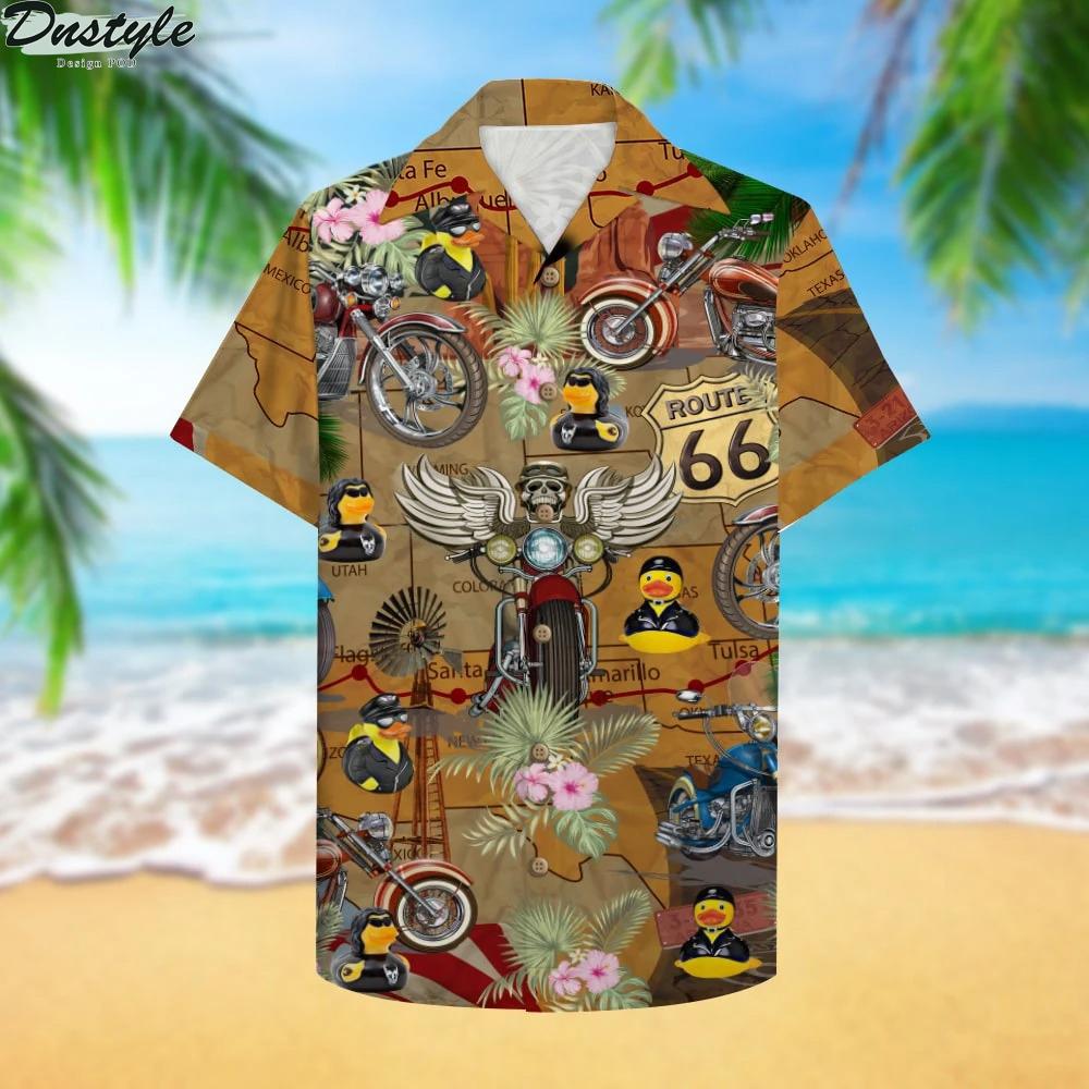 Motorcycle Rubber Duckie Hawaiian Shirt