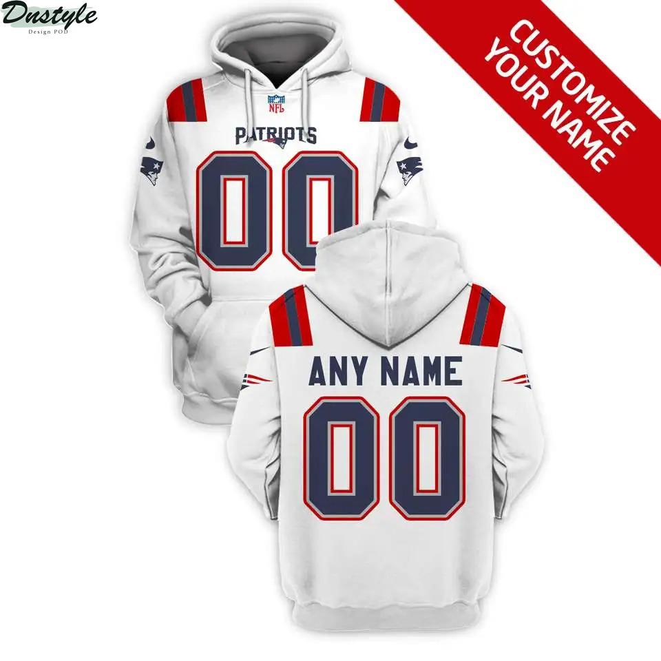 NFL New England Patriots custom name and number 3d printed hoodie